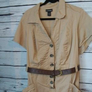 Lane Bryant khaki dress with belt size 28